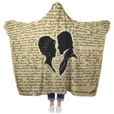 Pride And Prejudice Vintage Book Page Hooded Blanket - Gifts For Reading Addicts