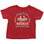 """Be Nice To The Books""Toddler T-Shirt - Gifts For Reading Addicts"
