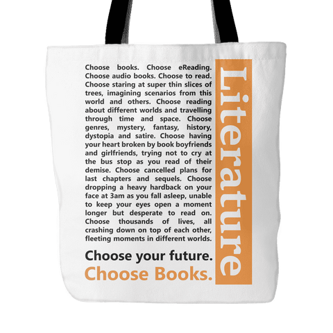 Choose Your Future, Choose Books Tote Bag-For Reading Addicts