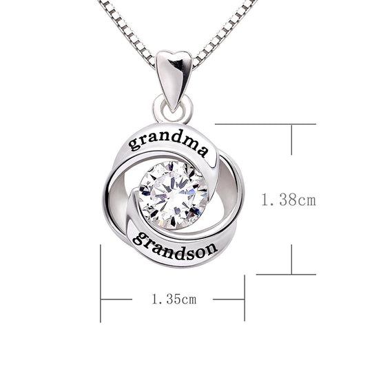 Swarovski Crystals Grandma Grandon - Pave Heart  Necklace