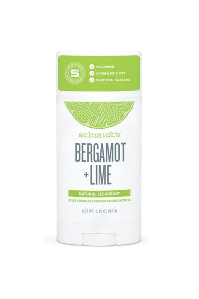 Body Care - Bergamot + Lime Deodorant Stick