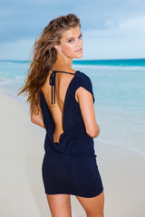 Sauvage - Mon Cheri Resort Black Dress - House of Mirza - 1