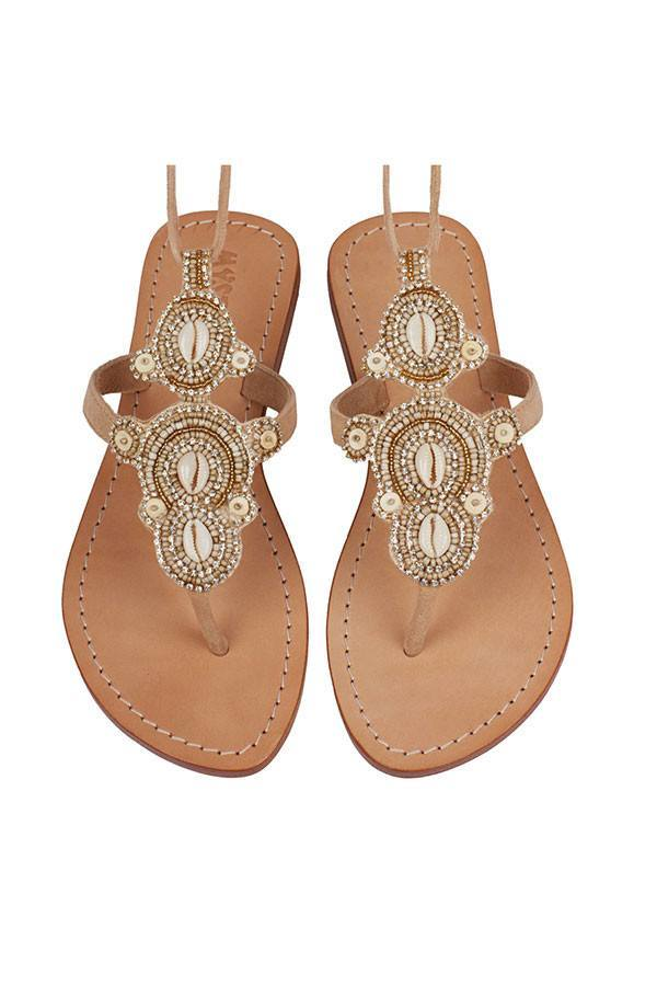 Mystique Sandals - Laguna - Nude Sandals - House of Mirza