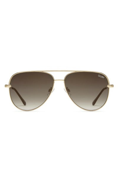 Sunglasses - Sahara - Gold W/ Smoke To Taupe Fade Lens