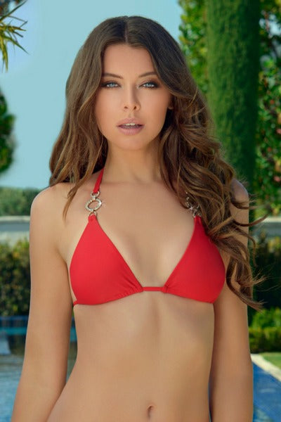 Rich & Pretty Red Bikini Top