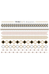 Tribe Tats - Monaco Collection - Bracelets & Necklaces 2 Sheet Pack - House of Mirza - 2