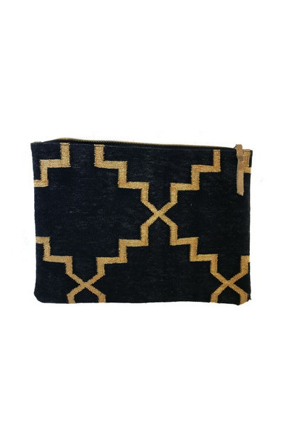 Black & Gold Oversize Clutch