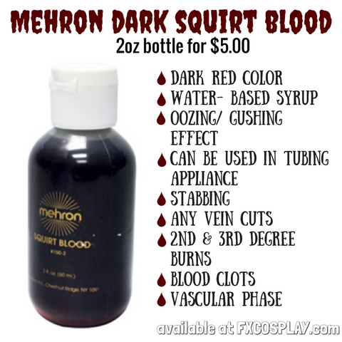 Mehron Dark Squirt Blood