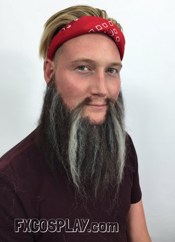 Using Crepe Hair to create a beard or mustache