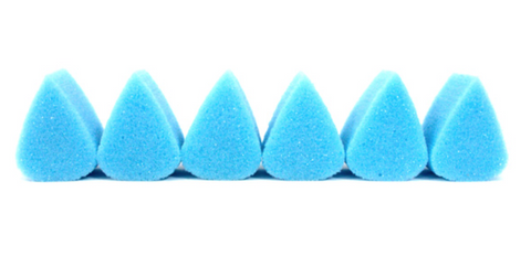 Paint Pal Light Blue Lux Tear Drop (Petal) Sponge 6 Pack - FXCOSPLAY