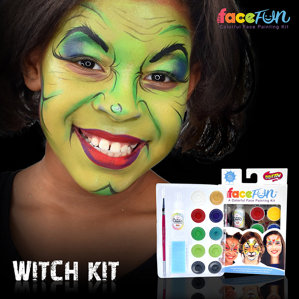 Witch and Zombie Silly Face Fun Character Kit