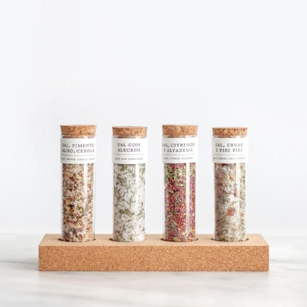 4 Flavoured Salt Tube with cork support