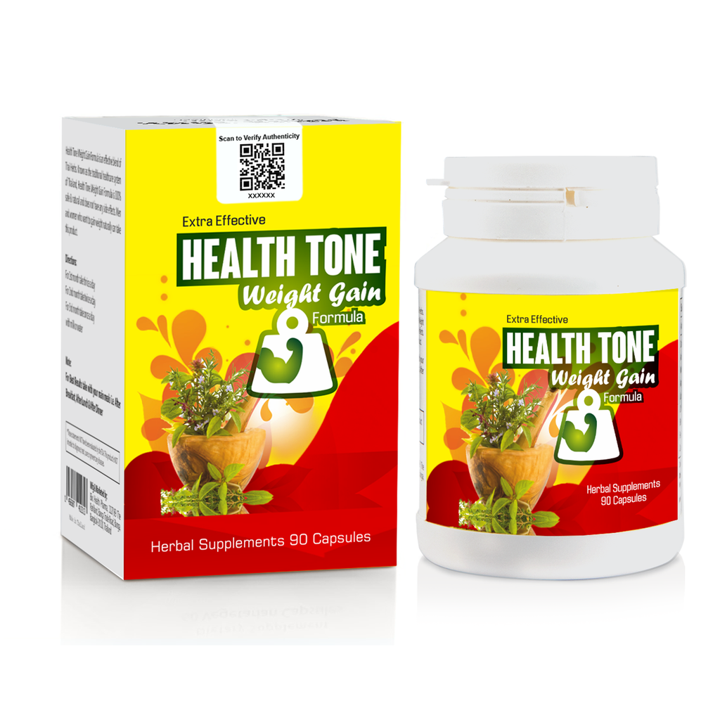 Extra Effective Health Tone Weight Gain Formula 1000mg- 90 capsules