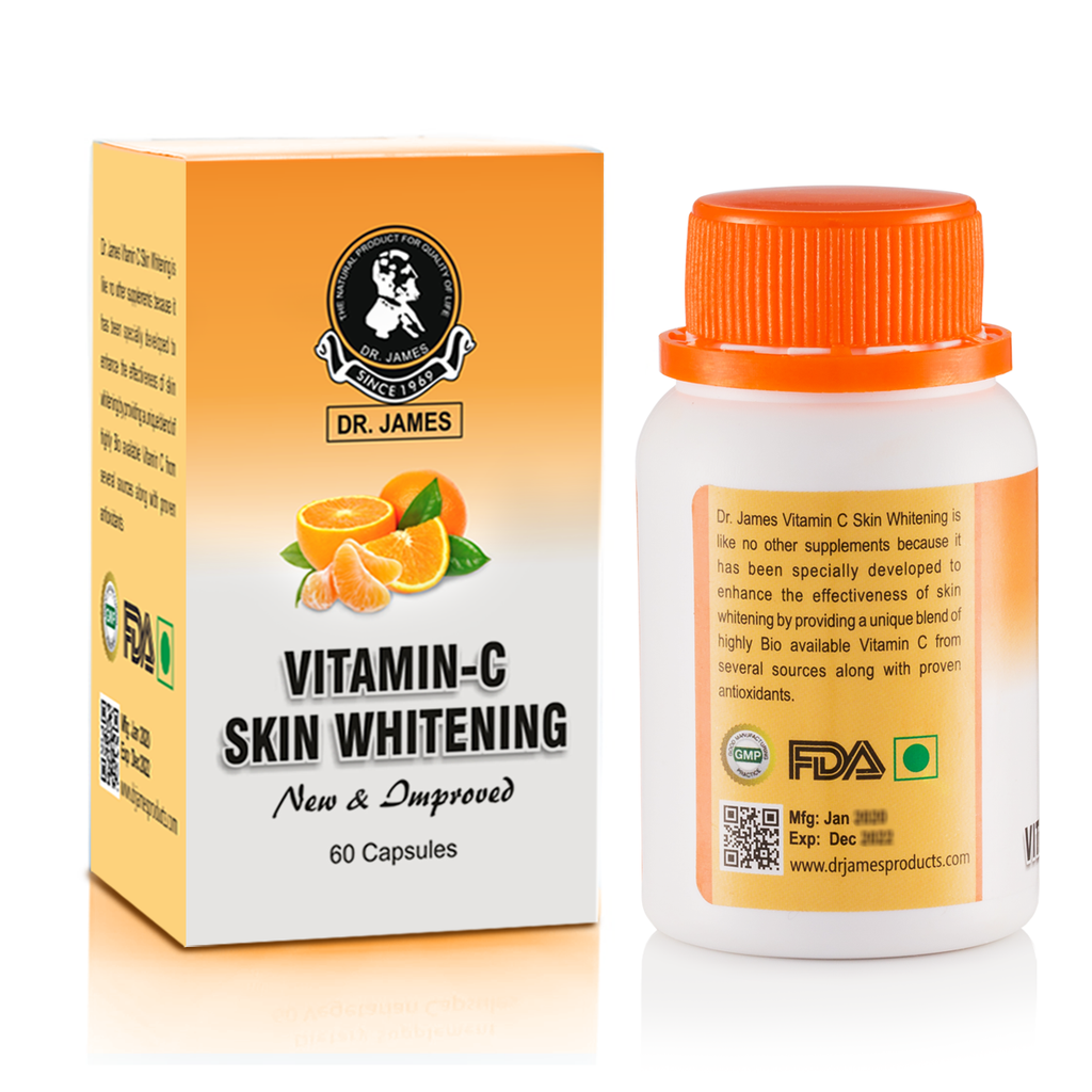 Dr James Vitamin-C Skin Whitening Capsules (Made In USA) GMP CERTIFIED