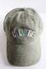 Colorful College Baseball Cap in Green