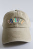 Colorful College Baseball Cap in Khaki