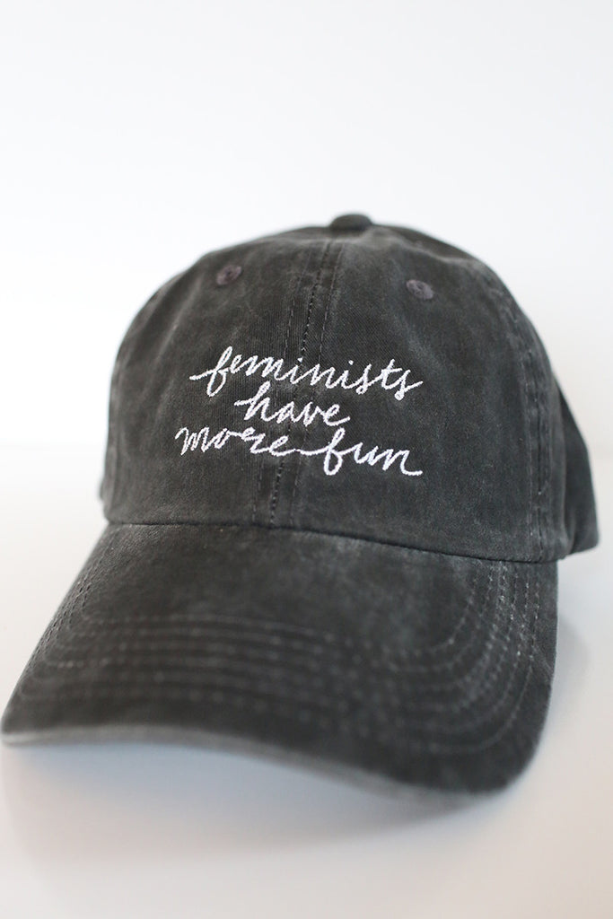 Feminists Have More Fun Cap in Black