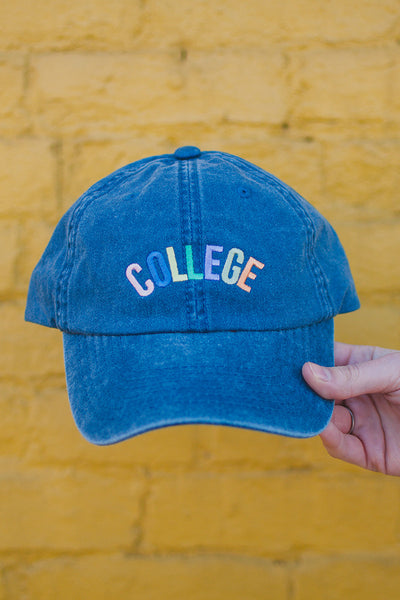 Colorful College Baseball Cap
