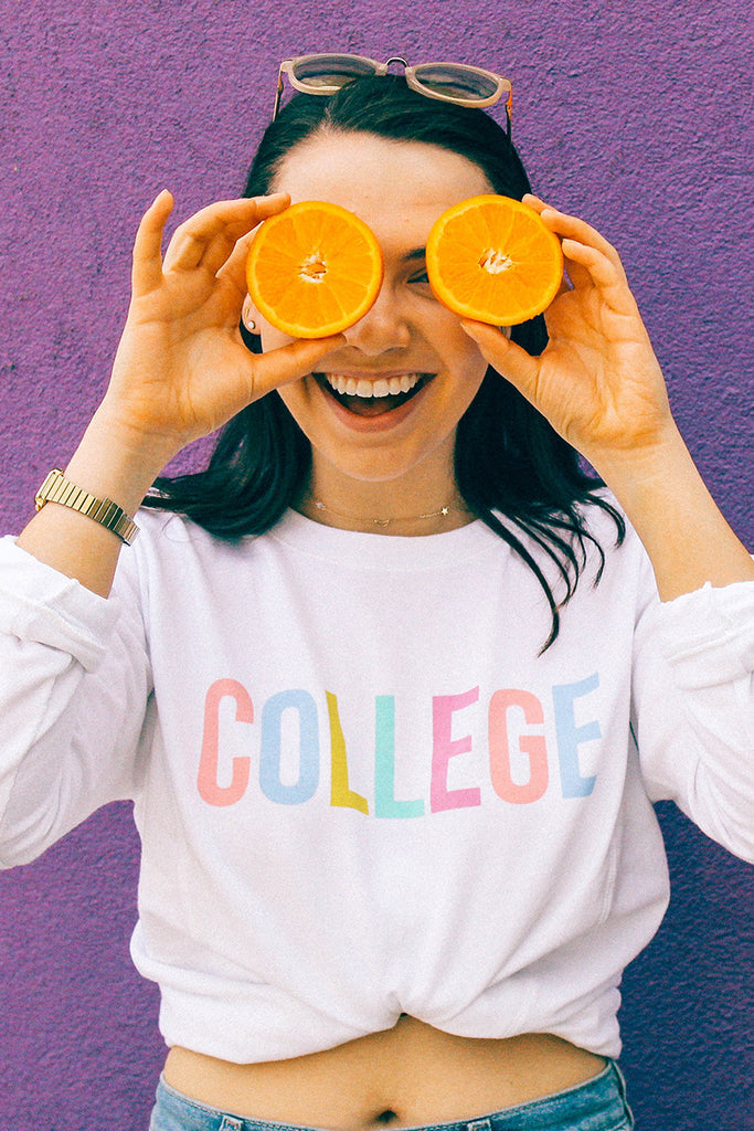 Colorful College Sweatshirt
