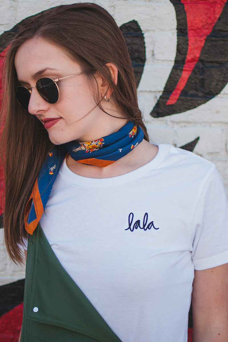 Lala Embroidered Tee