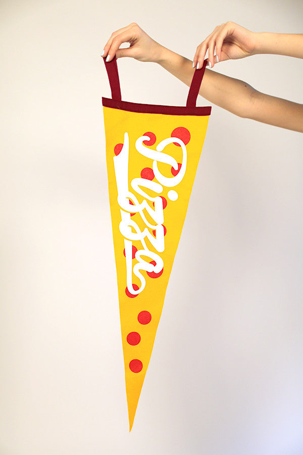 Pizza Slice Pennant Flag