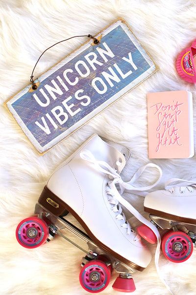 Unicorn Vibes Only Weathered Sign
