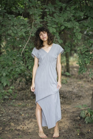 beach house maxi dress grey esby apparel