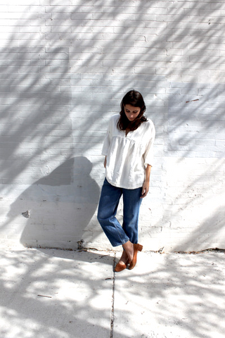 na nin esby apparel dauphine oversized top white made in usa