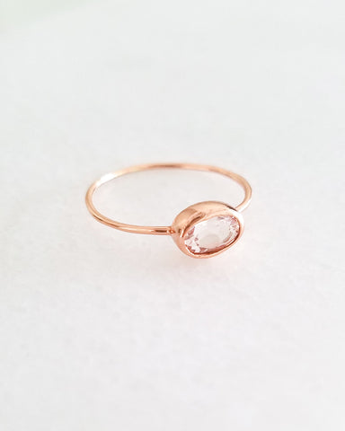 BLANCA MONROS GOMEZ - OVAL MORGANITE BEZEL RING