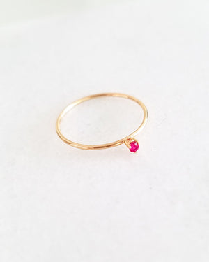 Load image into Gallery viewer, BLANCA MONROS GOMEZ - TINY RUBY SOLITAIRE RING