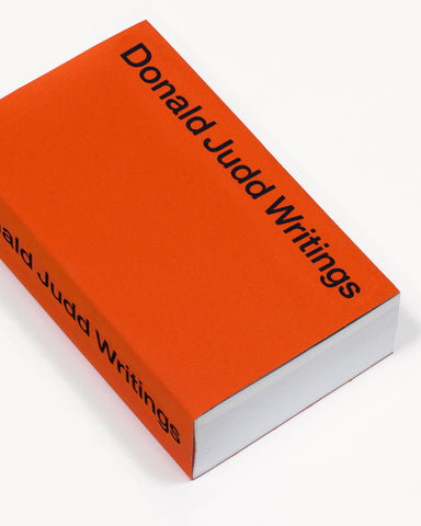 DONALD JUDD WRITINGS - BOOK