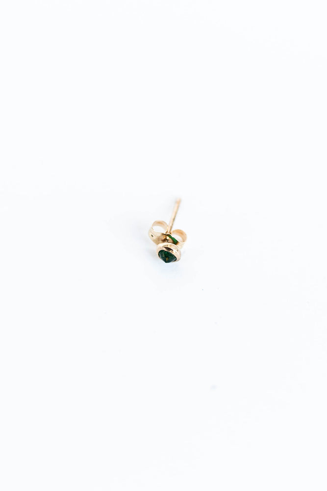 Load image into Gallery viewer, BLANCA MONROS GOMEZ - BEZEL STUD WITH EMERALD