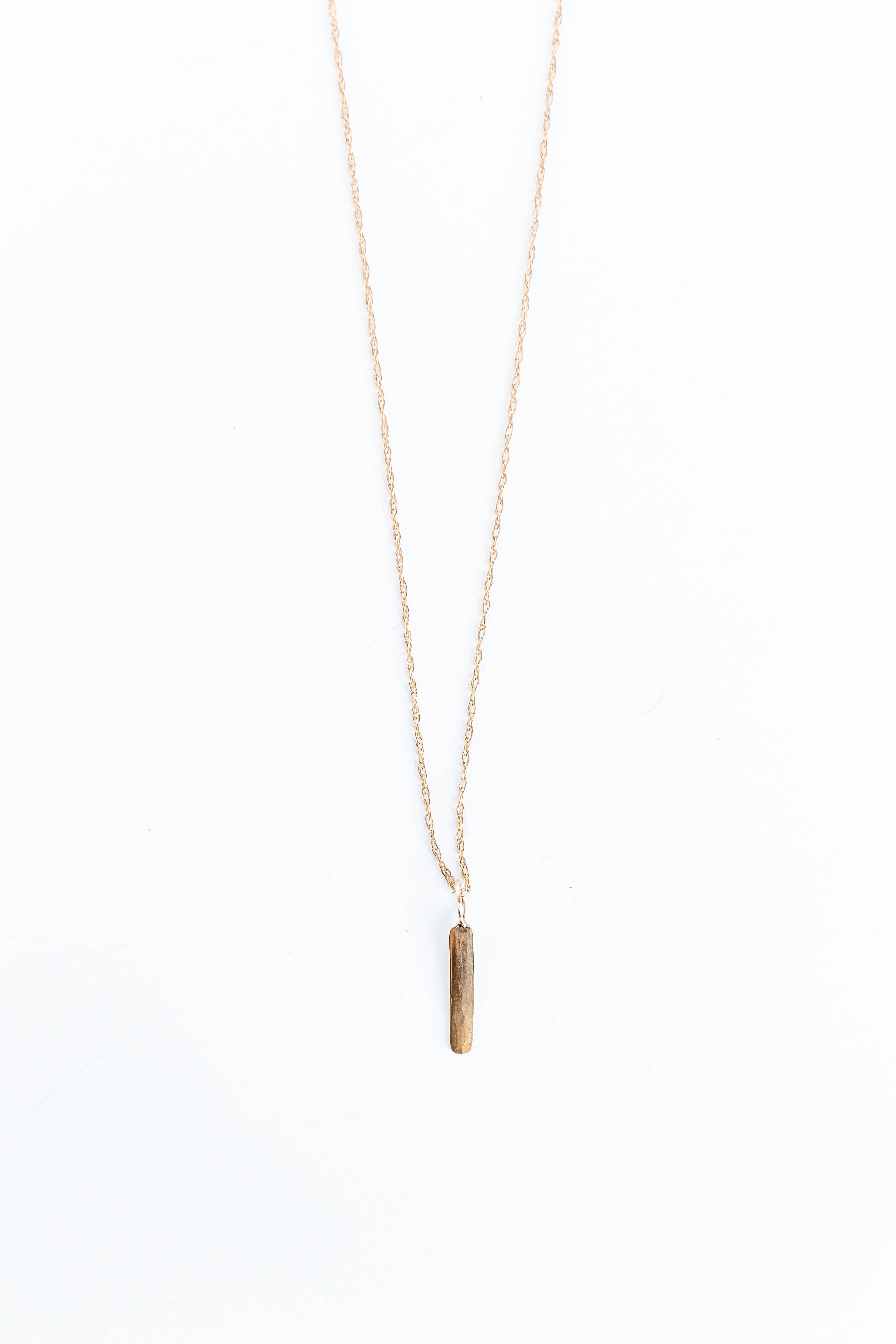 BLANCA MONROS GOMEZ - VERTICAL ID NECKLACE WITH CHAIN