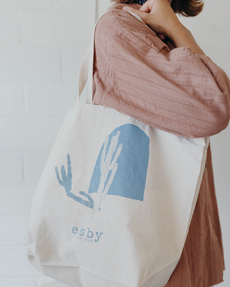 Load image into Gallery viewer, ESBY MARKET TOTE - SLATE BLUE