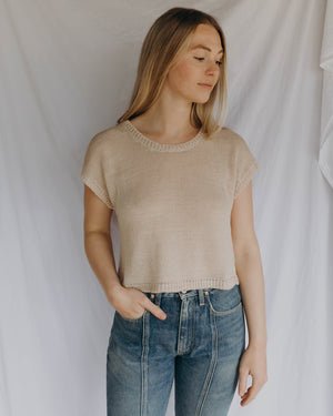 Load image into Gallery viewer, LAUREL SWEATER TANK - PEARL