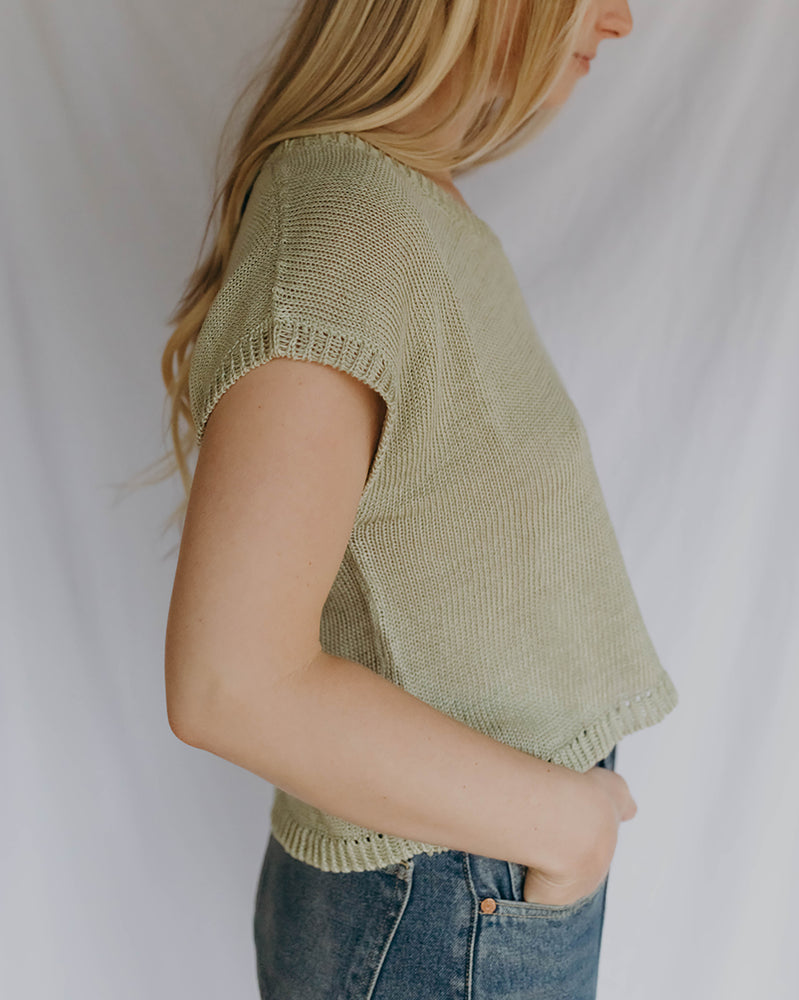 Load image into Gallery viewer, LAUREL SWEATER TANK - SEAGLASS