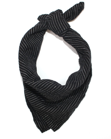 STRIPE BANDANA - BLACK/WHITE