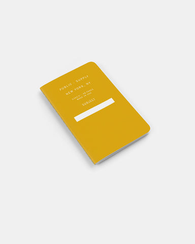 "PUBLIC SUPPLY - 3.5X5.5"" NOTEBOOK - YELLOW 3 PACK"