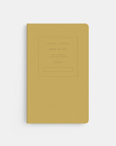 "PUBLIC SUPPLY - 5X8"" EMBOSSED NOTEBOOK - OCHRE"