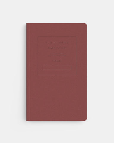 "PUBLIC SUPPLY - 5X8"" EMBOSSED NOTEBOOK - BRICK"