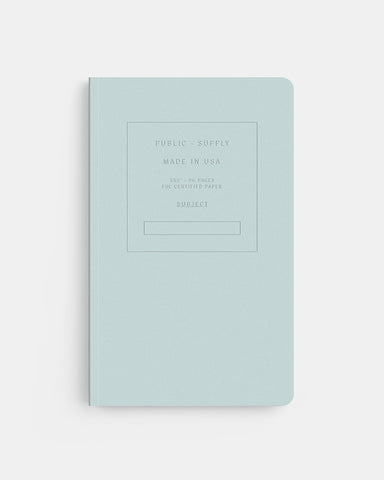 "PUBLIC SUPPLY - 5X8"" EMBOSSED NOTEBOOK - MIST"