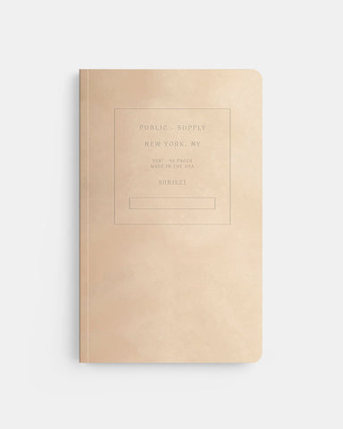 "PUBLIC SUPPLY - 5X8"" VELVET NOTEBOOK - CHAMPAGNE"