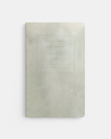 "PUBLIC SUPPLY - 5X8"" VELVET NOTEBOOK - SAGE"