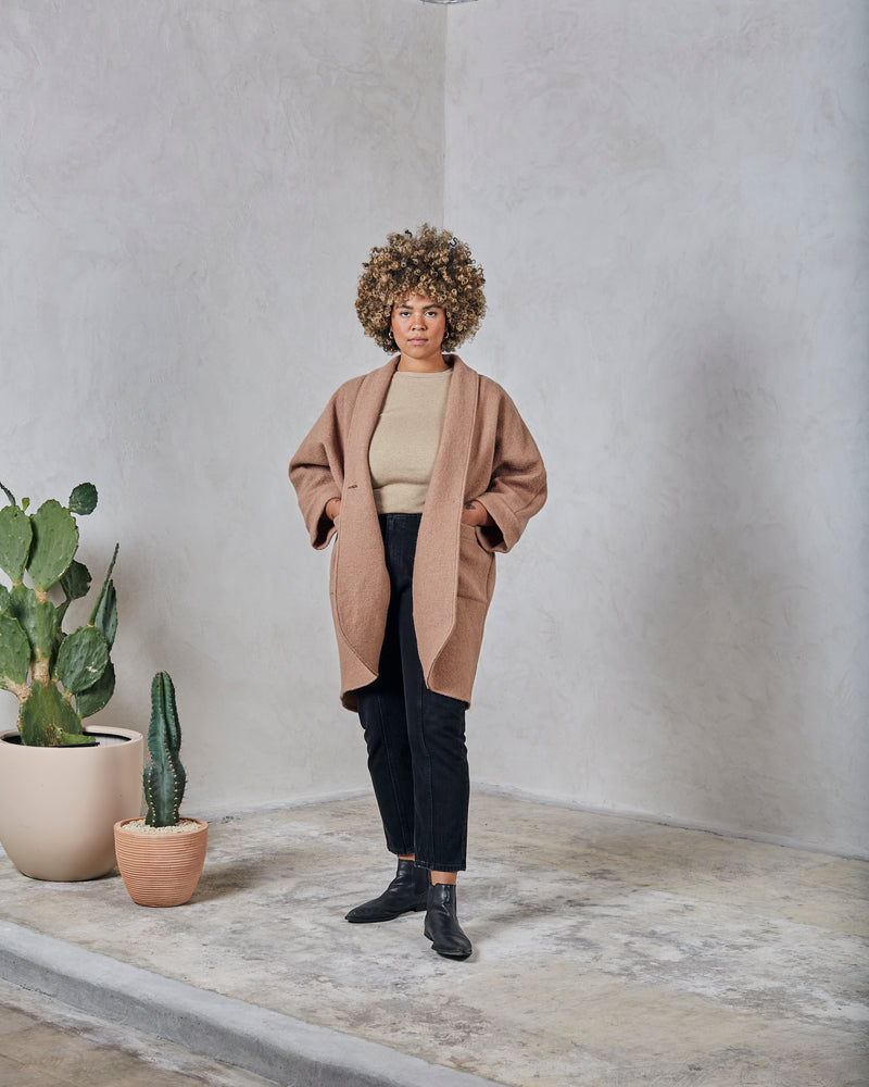 Load image into Gallery viewer, CORA DUSTER - CAMEL
