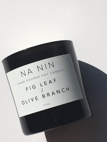 NA NIN - FIG LEAF / OLIVE BRANCH DOUBLE WICK CANDLE