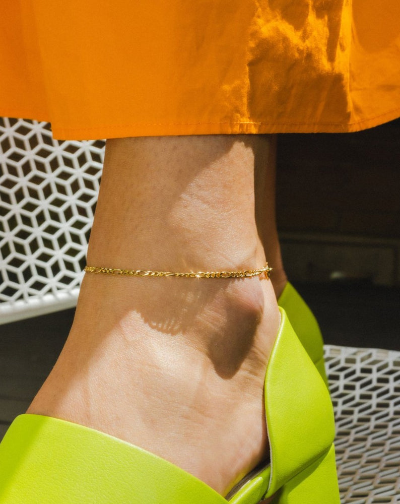ARO - FIGARO CHAIN ANKLET - GOLD
