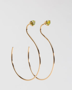 Load image into Gallery viewer, HOOP THREADER EARRING - SMALL