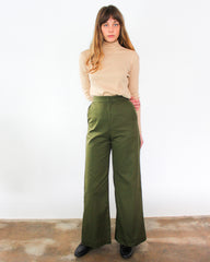 olive green highwaisted wideleg pants