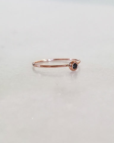 BLANCA MONROS GOMEZ - DIAMOND SEED RING - BLACK DIAMOND - 14K ROSE GOLD