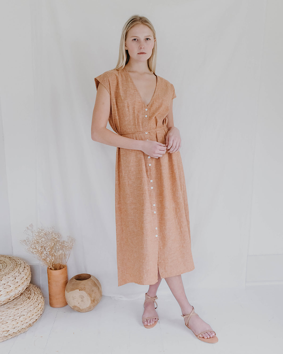 WINNIE DRESS - VINTAGE BRICK